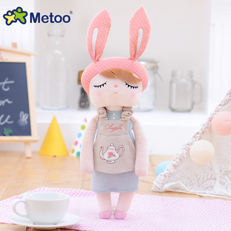 Accompany Sleep Retro Angela Rabbit Plush Stuffed Animal Kids Toys for Girls Children Birthday Christmas Gift 13 Inch Metoo Doll rabbit plush keychain cute simulation rabbit animal fur doll plush toy kids birthday gift doll keychain bag decorations stuffed
