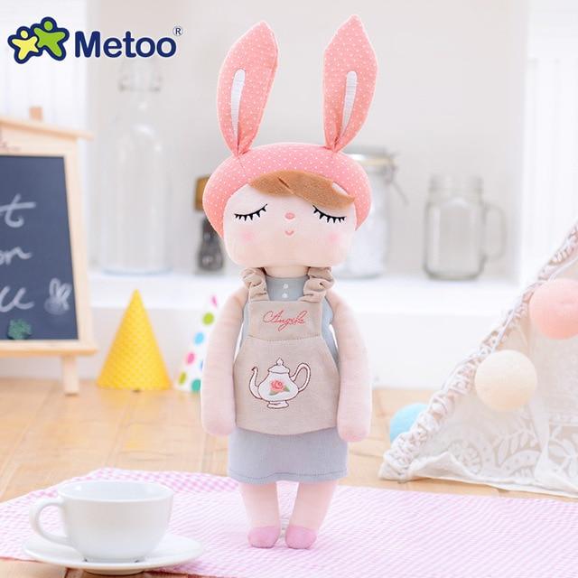 Accompany Sleep Retro Angela Rabbit Plush Stuffed Animal Kids Toys for Girls Children Birthday Christmas Gift 13 Inch Metoo Doll