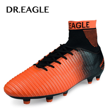 DR.EAGLE Outdoor lawn FG football shoes for men cleats soccer original FOOTBALL WITH ANKLE BOOTS high soccer shoes Sneakers original new arrival adidas men s soccer football shoes sneakers
