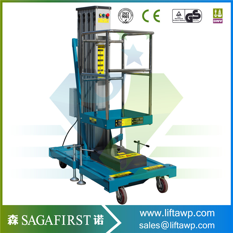 Aluminium Double Mast Aerial Working Man Platform Lift Table