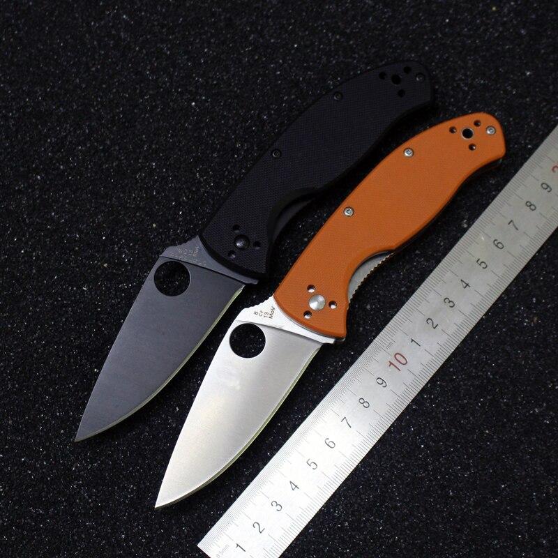 Hot sale c122 Spyderco Folding font b Tactical b font font b Knife b font 8CR