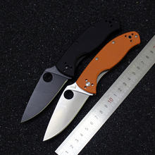 Hot sale c122 Spyderco Folding Tactical Knife 8CR Blade G10 Handle Knife Survival Camping Hunting Knife Hand edc Tool C122