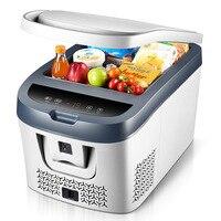 Refrigerador do congelador da geladeira do carro da c.c. 12 v 24 v de 38l para o congelador da refrigeração do piquenique da casa do carro-19 degrees 10 graus