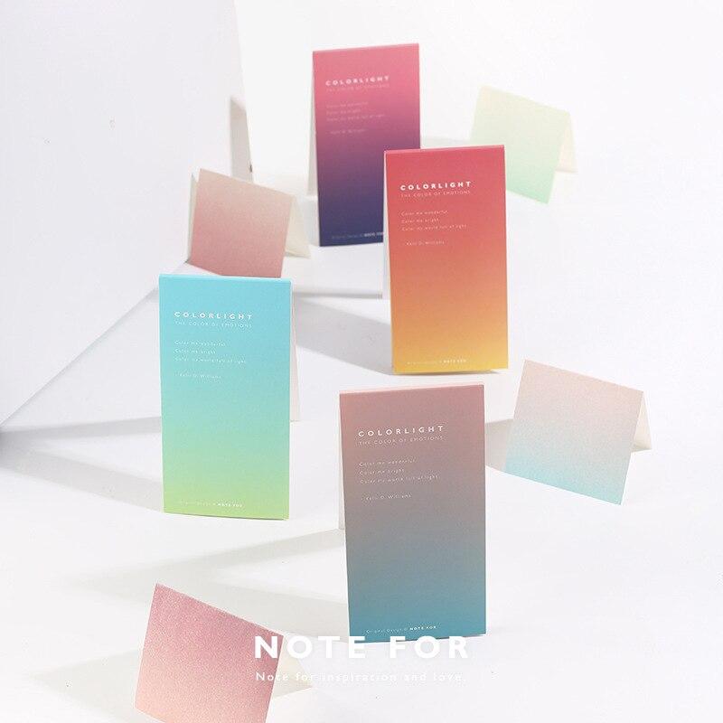 Colorlight Gradual Change Memo Pad Notes Bookmark School Office Supply