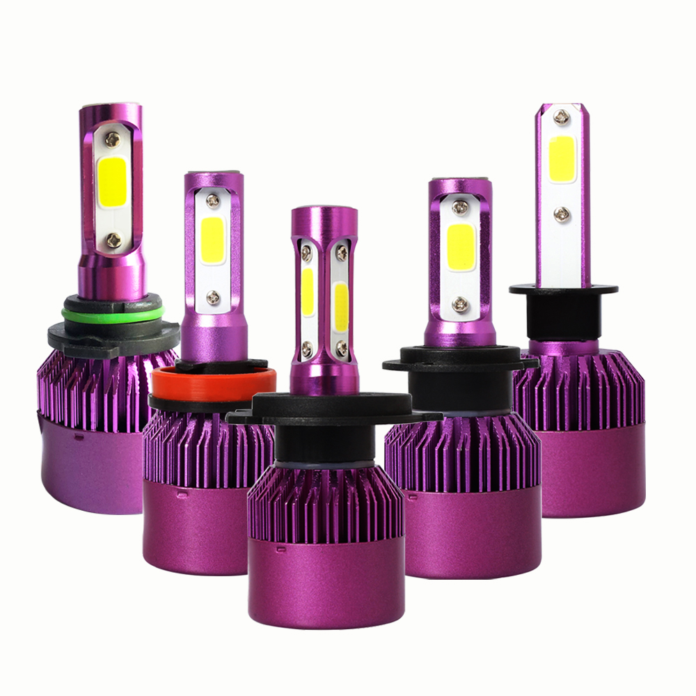 2 pcs H4 H7 LED Phare De Voiture Ampoule 8000LM S2 Mise À Niveau LED H1 H8 H9 H11 HB3 9005 HB4 9006 h3 Projecteur Diode Lampe pour Auto Brouillard Lumière