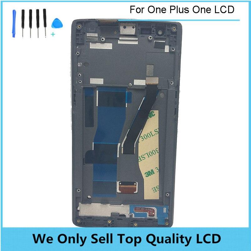 LCD tela Para OnePlus One 1 + A0001 e Tela Sensível Ao Toque Assembléia digitalizador Substituição OEM Preto Com Frame Frete Grátis + ferramentas