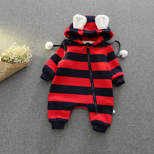 Baby Clothes Winter Newborn Boys Girls Striped Cashmere Rompers Fashion Infant Jumpsuit Baby Brand Products Clothing Bebe Romper