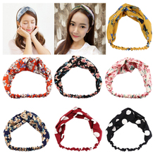 Fashion Hot-selling Headband Turban Elastic Hairband Hair Accessories for Women Girls Striped Headwear