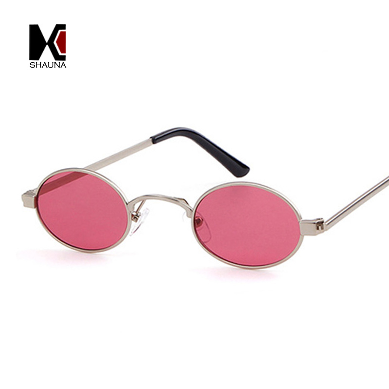 Trending Women Small Oval Sunglasses Candy Colors Fashion Men Clear Red Lens Shades UV400 rgLnI