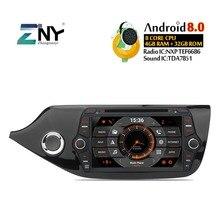 4 ГБ 8 «ips Android 8,0 автомобильный DVD для Kia Ceed 2013 2014 2015 2016 2017 радио GPS WIFI FM навигации Аудио Видео Бесплатная резервного копирования камера