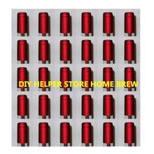 Горячая Распродажа, 100 шт, крышки для бутылок для домашнего пивоварения, термоусадочные капсулы, бордовые металлические винные бутылки высокого качества