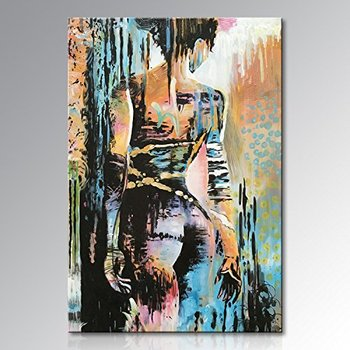 Handmade Sexy Nude Woman Wall Art Naked Lady Abstract Figure Oil Painting on Canvas