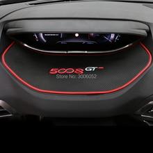 PARA Peugeot 5008 2017 Dashboard Instrumento Consola Anti Slip Mat Pad Ranhura Portão Do Telefone Móvel Interior Mon-Tapetes antiderrapantes acessórios