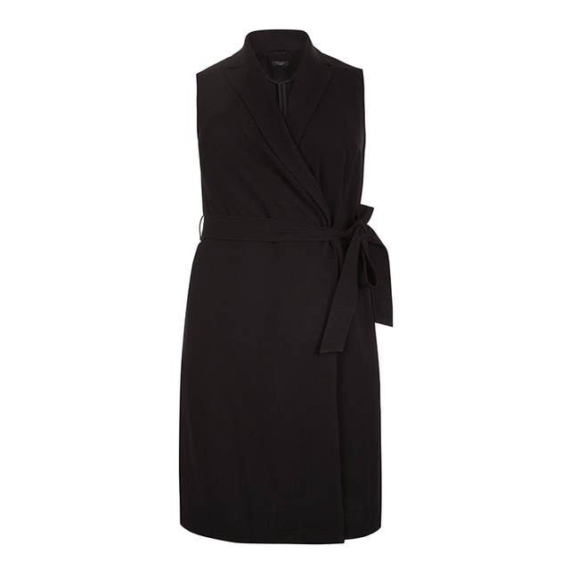 Robe pour Femmes  Mode Grande Taille Solide Noir  Mince  3XL-6XL