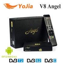 DVB-S2 y T2/C Ángel V8 Receptor de Satélite Terrestre Cable Combo Receptor Amlogic S805 Android TV BOX IPTV Sintonizador Streaming En Línea