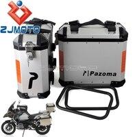 Aluminum Motorcycle Luggage Side Cases Saddlebag Rear Bag 36L Panniers Side Box For BMW Suzuki Yamaha Kawasaki Street Bike