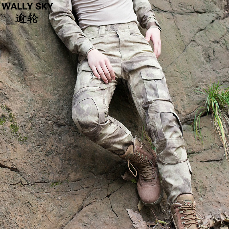Men's Military Tactical Pants Men Outdoor CS Training Trousers Jungle Cargo Pants Camouflage Hunting Trousers Army Hunting Pants best version fear of god pants 1 1 trousers fog inner zipper chinos kanye west camo camouflage trousers joggers men cargo pants