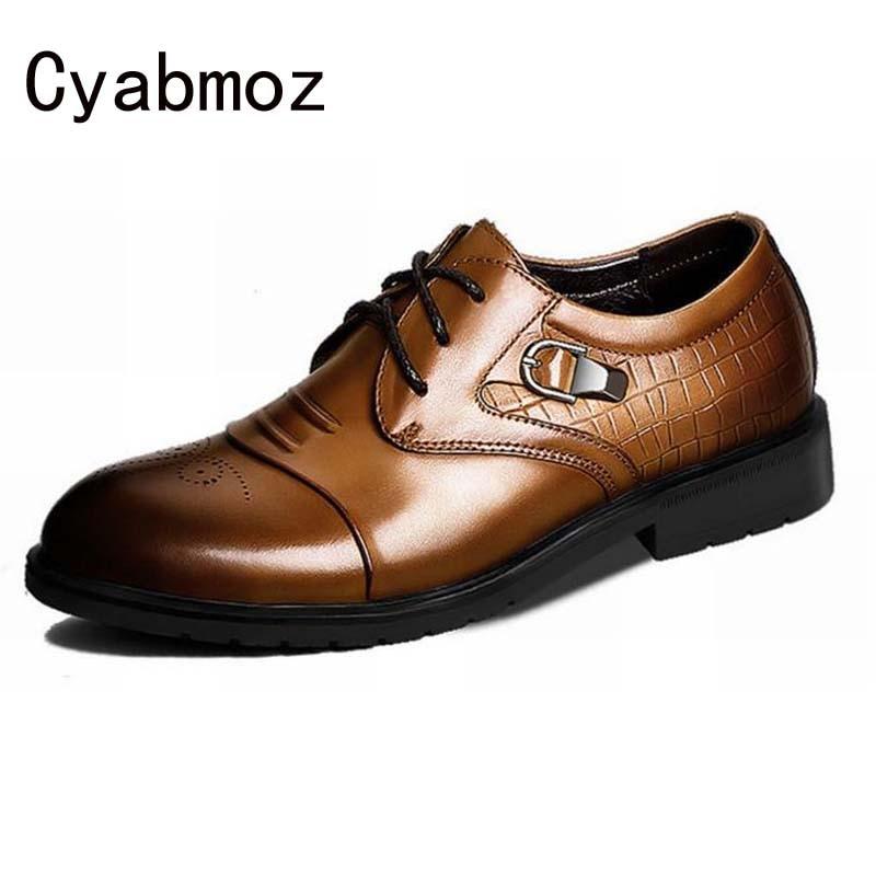 ФОТО Luxury Mens Wedding Oxfords Shoes Men's Casual Crocodile Genuine Leather Retro Brogues Pointed Toe Fashion Buckle Dress Shoes