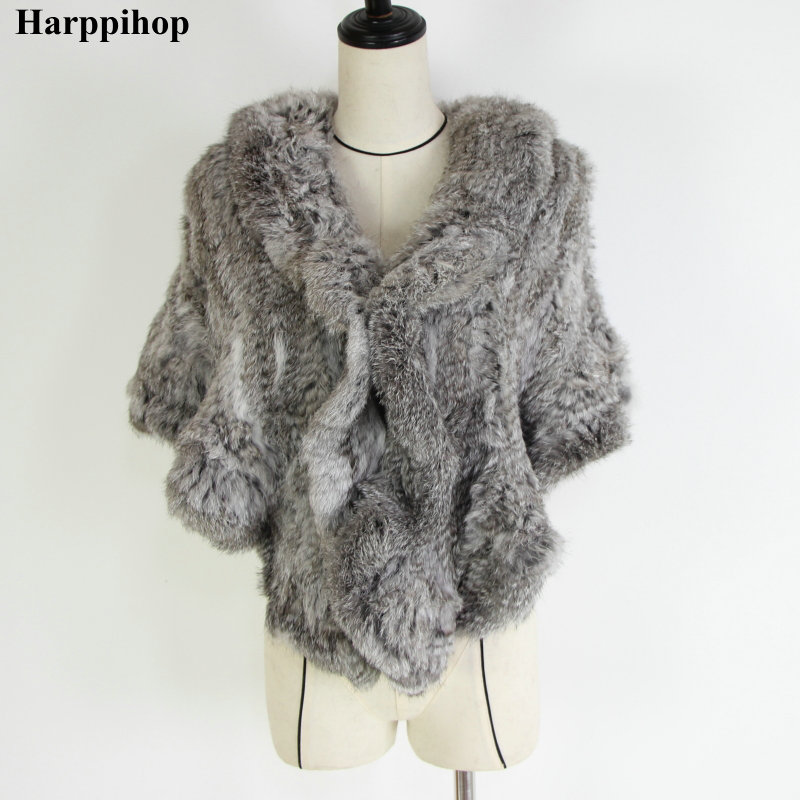 2018 Genuine Rabbit Fur Poncho,Knitted Rabbit Fur Pashmina,Genuine Rabbit Fur Shawl women's coats/Hot Sale/OEM/Wholesale/Retail