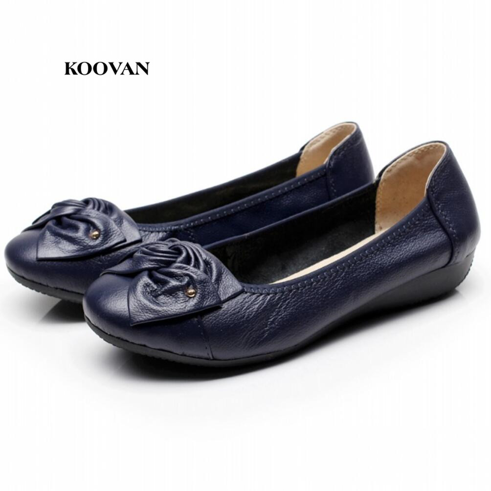 Koovan Women Flats 2017 Autumn Mother Shoes Women's Singles Shoes Flat Bottom Comfortable Middle Aged Mama Butterfly Knot 43 phil collins singles 4 lp