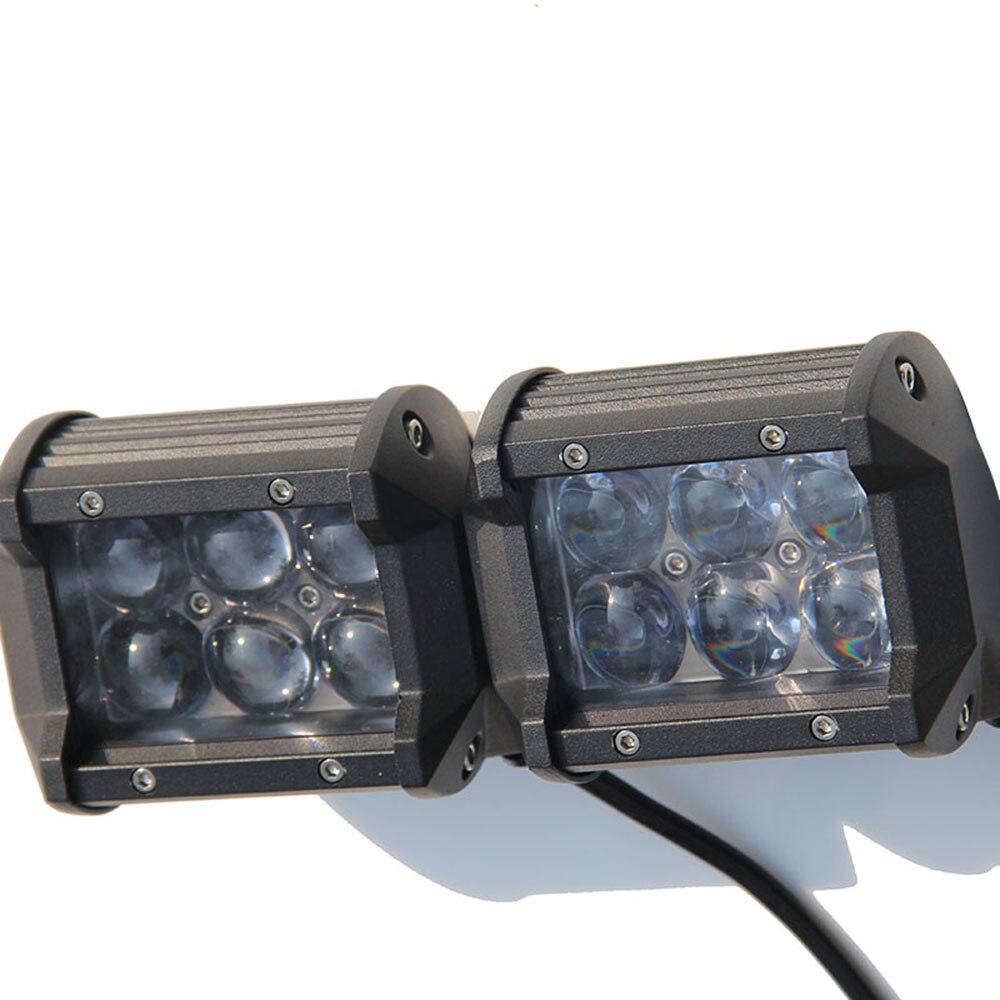 CO LUZ del Trabajo del Led Light Bar 4 ''30 W Doble fila 6000 K 1800lm Barra de