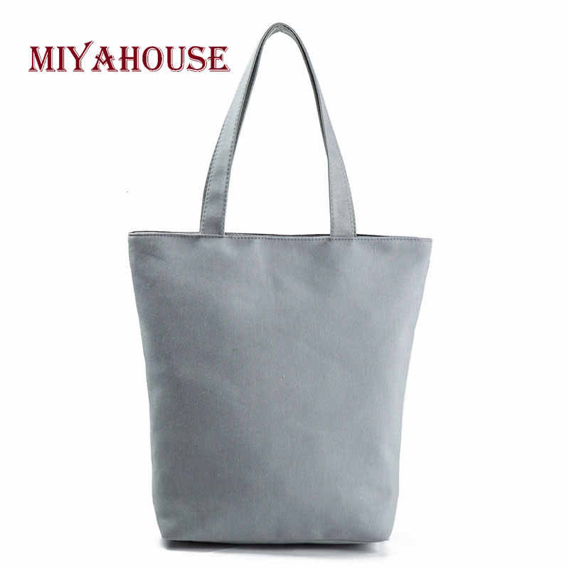Miyaho сумка с цветочным принтом женская сумка через плечо холщовая Летняя Пляжная сумка для ежедневного использования женская сумка для покупок