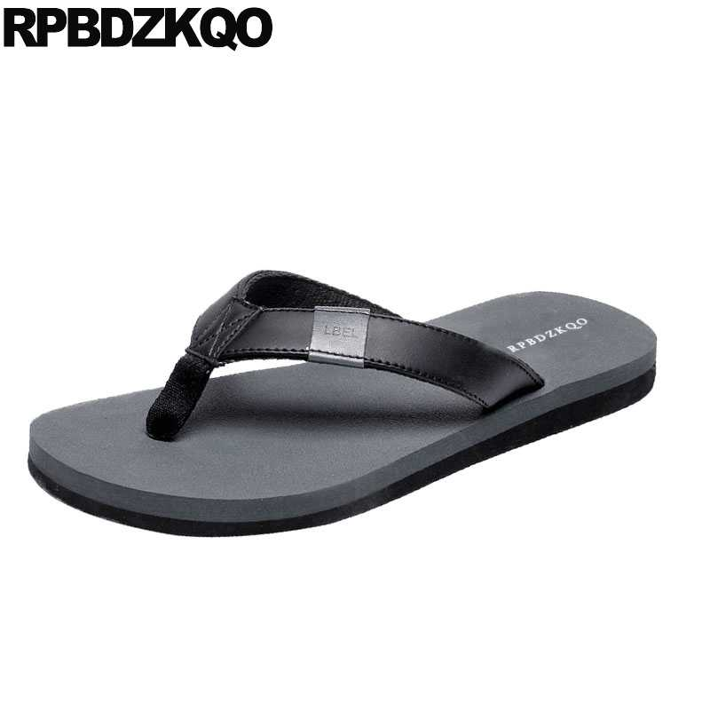 78281d1516b03d Outdoor Shoes Slippers Fashion Beach Soft Water 2018 Slides Slip On Men  Sandals Leather Summer Casual