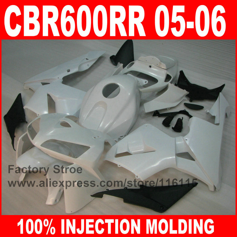 ABS plastic Injection motorcycle fairings parts for HONDA F5 2005 2006 CBR 600 RR CBR600RR 05 06 white race road fairing bodykit arashi motorcycle parts radiator grille protective cover grill guard protector for 2003 2004 2005 2006 honda cbr600rr cbr 600 rr
