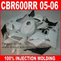ABS plastic Injection motorcycle fairings parts for HONDA F5 2005 2006 CBR 600 RR CBR600RR 05 06 white race road fairing bodykit