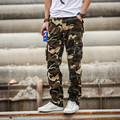 Spring and Autumn Men's Casual Multi-pocket Pants Male Loose Overalls Straight Casual Trousers Camouflage Long Trousers