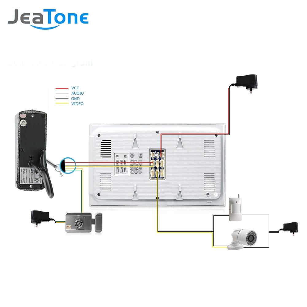 Image 5 - JeaTone 7 Inch LCD Video Doorphone Intercom System Door Release Unlock Home Security Video Door Phone Kit 1200TVL+16G SD Card-in Video Intercom from Security & Protection