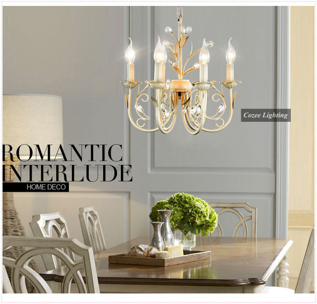 Free Shipping Fashion Crystal Chandelier Lamp In French Provincial Style With 6 Arms At Whole Price