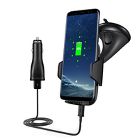 Pre Sale Car Mount Qi Wireless Dashboard Air Vent Phone Charger Holder for Iphone X ABS Mobile Phone Charging Stand Mounts 2018