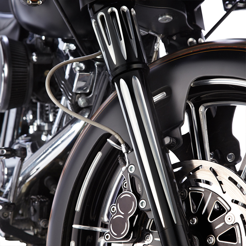 Moto Accessories Decoration Upper Boot Slider Fork Cover For Harley Touring Electra Glide Road King Street FLHX 1980-2013