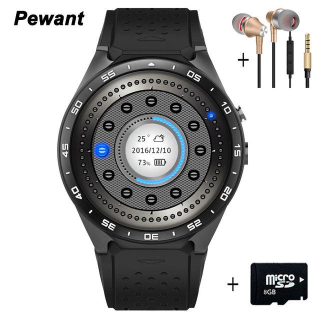 2017 Человек Часы Smart Здоровья Android 5.1 Kw88 Smart Watch 512 МБ + 4 ГБ WIFI 3 Г Smartwatch Телефон Поддержки Google Voice GPS Карта
