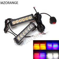36W 12V Car Strobe Warning Light Truck Motorcycle LED Light Bar Daytime Running Lights Red Blue White LED Police Emergency Light