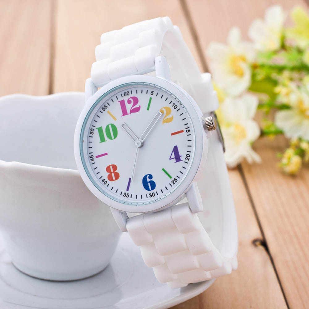 นาฬิกาผู้หญิงเจนีวาซิลิโคนนาฬิกาแฟชั่นผู้หญิงนาฬิกาข้อมือควอตซ์หญิงนาฬิกา 2019 relogio feminino # AAA