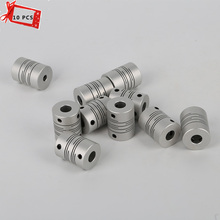 10Pcs/Lots flexible shaft 5mm*8mm*26mm Stepper Motor Shaft Coupler flexible shaft couplings for 3D printer part