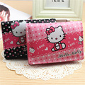2017 Hot Fashion hello kitty girls Women Wallets handbag solid PU Leather Long bag clutch Lady brand Cash phone card coin Purse