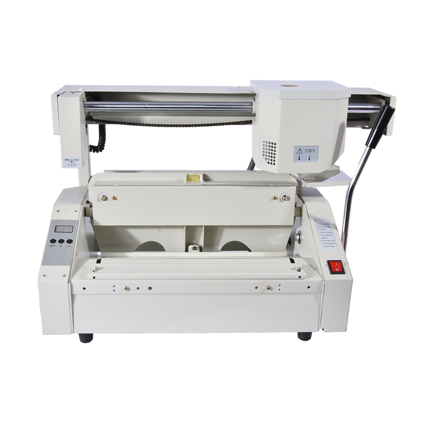 цена на 1pc JB-2 Desktop glue book binding machine glue book binder machine hot melt book binding machine booklet maker