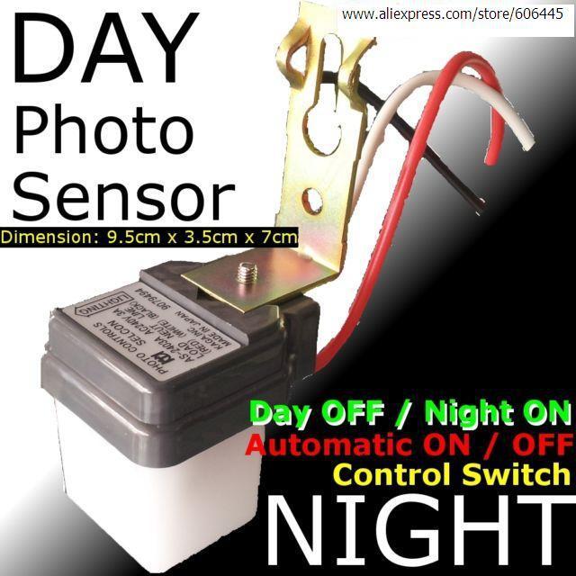 110V Auto Daylight Light Sensor Switch Photo Sensor Controller ...