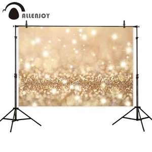 Image 4 - Allenjoy party Glttter photography backdrop Birthday bokeh gold black shiny wedding photo background studio photocall shoot prop