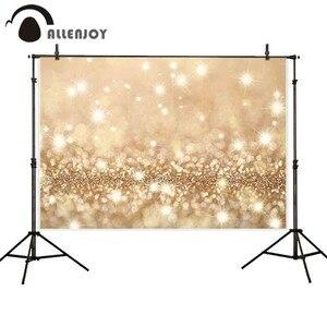 Image 4 - Allenjoy вечевечерние Блестящий Фон для фотосъемки день рождения боке Золотой Черный Блестящий Свадебный фон для фотосъемки студия реквизит для фотосъемки
