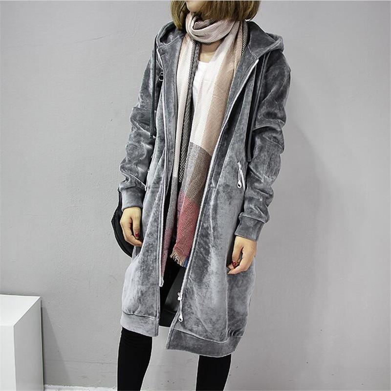 2020 Autumn New Women Thick Warm Hooded Basic Coats jacket Casual Lady Winter Long Fashion