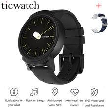 Хорошее Ticwatch E Expres Смарт часы-телефон Android Wear OS MT2601 двухъядерный монитор сердечного ритма WI-FI gps Водонепроницаемый + один бесплатный ремень