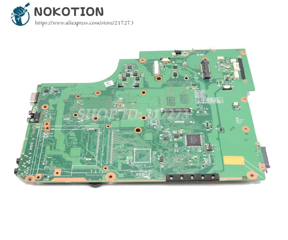 NOKOTION V000185580 V000185560 Para Toshiba Satellite L505 L505D Laptop Mãe Soquete S1 DDR2 com Frete cpu