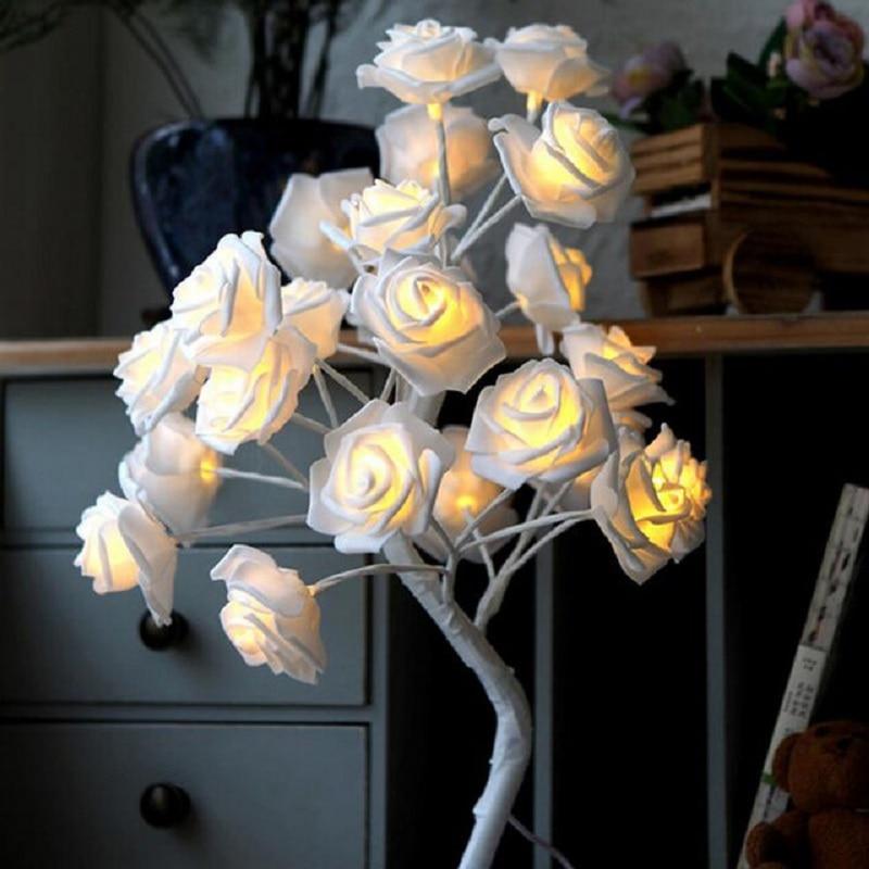 Llamba LED Tela trëndafilash Dritat LED Garland Dritat e - Ndriçimi i pushimeve - Foto 2
