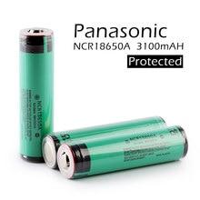 цена на 2pcs/lot New Original Protected Panasonic 18650 NCR18650A Rechargeable Battery 3.6V 3100mAh Li-Ion Batteries with PCB