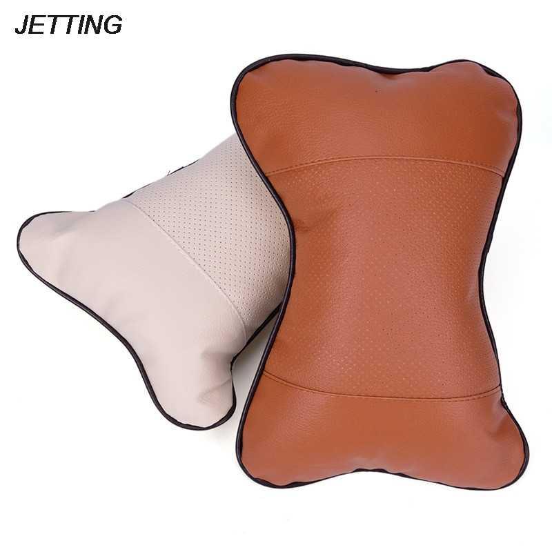 1 шт. подушка для подголовника из искусственной кожи, Автомобильная подушка для подголовника, Автомобильная подушка для сиденья, автомобильные аксессуары для подголовника