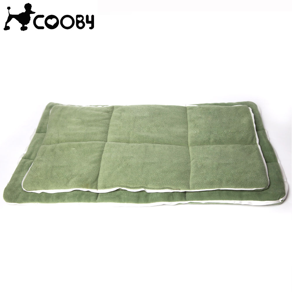 [COOBY] Cotton Pet Dog Mat Bed Products for Large Small Dog Sofa Bed Cover All Seasons Big Size Washable Green Cat Mat COO005